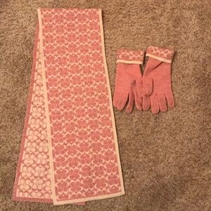 EUC Coach scarf and gloves